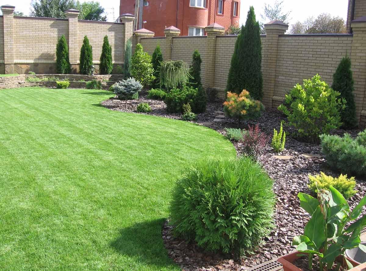 здесь дизайн газона перед домом фото удобным поиском